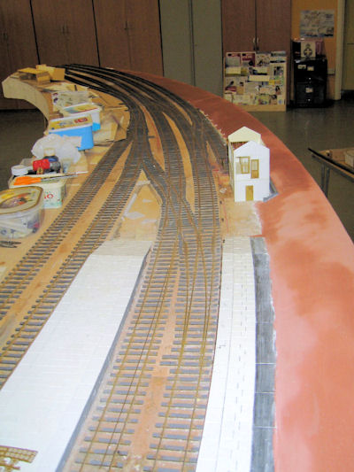 Platform construction and rough landscaping started