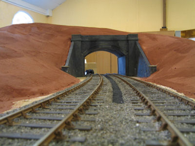 Ballasting of the track under the bridge