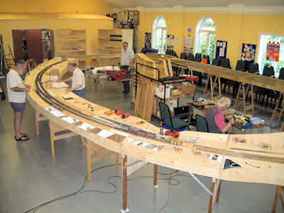 The new layout attached to the test track
