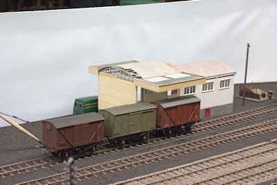The goods shed construction is now nearing completion