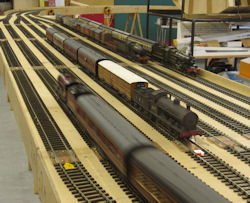 O gauge test track in use on 23 February